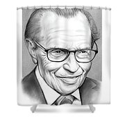 Larry King Shower Curtain