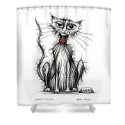 Larry The Cat Shower Curtain