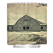 Larsen Road Barn Shower Curtain