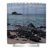 Las Bachas Beach Shower Curtain