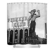 Las Vegas 1980 Bw #13 Shower Curtain