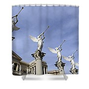 Las Vegas Angels Shower Curtain