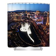 Las Vegas Lights Shower Curtain