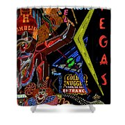 Las Vegas Neon Shower Curtain
