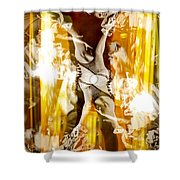 Seeing Beyond The Glass Aka Las Vegas Reflections Shower Curtain