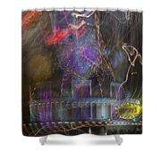 Las Vegas Strip 2182 Shower Curtain