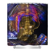 Las Vegas Strip 2224 Shower Curtain