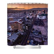 Las Vegas Strip Aloft Shower Curtain