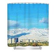 Las Vegas Strip And Mt Charleston Shower Curtain