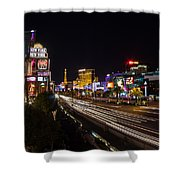 Las Vegas Strip At Night Shower Curtain