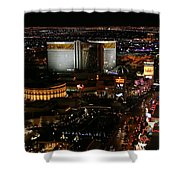 Las Vegas Strip Shower Curtain by Kristin Elmquist