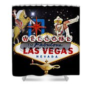 Las Vegas Symbolic Sign Shower Curtain