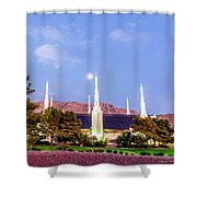 Las Vegas Temple Moon Shower Curtain