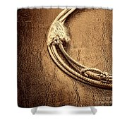 Lasso On Leather Shower Curtain