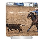 Lassoing The Calf Shower Curtain