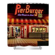 Last Burger On Land Shower Curtain