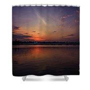 Last Glowing Ember Shower Curtain by Viviana Nadowski