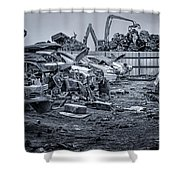 Last Journey - Salvage Yard Shower Curtain