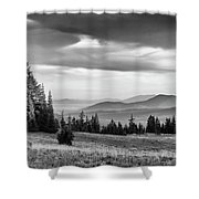 Last Light Of Day In Bw Shower Curtain