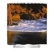 Last Light On Harris Beach Shower Curtain