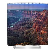 Last Light On The Canyon Shower Curtain