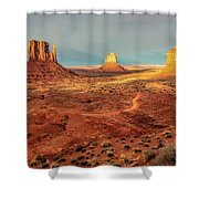 Last Light Over Monument Valley Shower Curtain