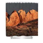 Last Light Valley Of Fire Shower Curtain