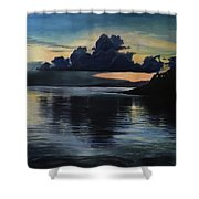 Last Look At Lusias Lagoon Shower Curtain