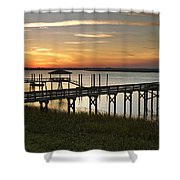 Last Look At The River Shower Curtain