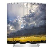 Last Nebraska Supercell Of The Summer 043 Shower Curtain