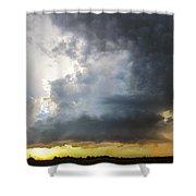 Last Nebraska Supercell Of The Summer 045 Shower Curtain