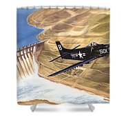 Last Of The Dambusters Shower Curtain by Marc Stewart