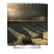 Last Outpost Shower Curtain