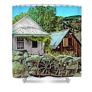 Last Post Office And Ice House Shower Curtain
