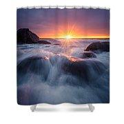 Last Rays Shower Curtain