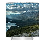 Last Rays Of Light Over Peyto Lake Shower Curtain