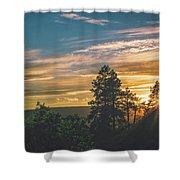 Last Rays Of Sunday Shower Curtain by Jason Coward