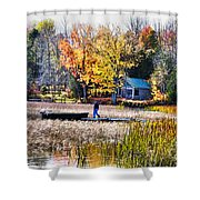 Last Ride Of The Season Shower Curtain