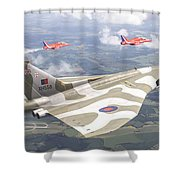 Last Royal Escort - Avro Vulcan Shower Curtain