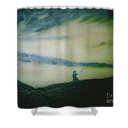 Last Samurai Shower Curtain