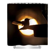 Last Sip At Sunset Shower Curtain