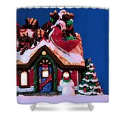 Last Stop For Santa Shower Curtain