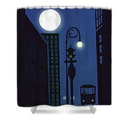 Last Stop For The Night Bus Shower Curtain