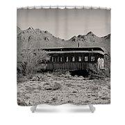 Last Stop Tucson Shower Curtain