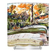 Last Summer In Brigadoon Shower Curtain by Kip DeVore