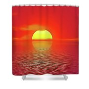 Last Sunset Shower Curtain