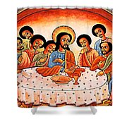 Last Supper Angels Shower Curtain