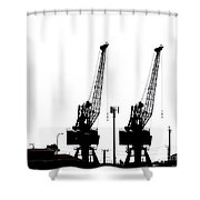 Last To The Ark Shower Curtain by Stephen Mitchell
