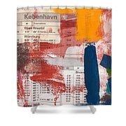 Last Train To Kobenhavn- Art By Linda Woods Shower Curtain