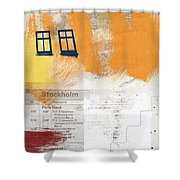 Last Train To Stockholm- Art By Linda Woods Shower Curtain